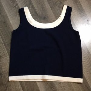 St John Nautical tank top sailor size medium knit